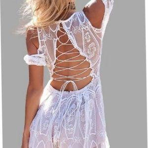 NEW➡☀Boho White Lace Romper S